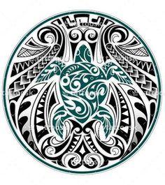 SBink Tribal Sea Turtle ❥❥❥ https://tattoosk.com/polynesian-turtle-tattoo