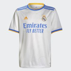 Real Madrid 21/22 Home Jersey White Kids