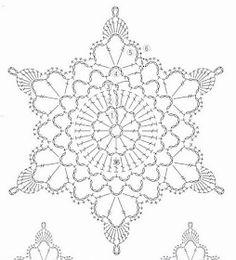 Crochet White Snowflake Tree Ornaments Christmas Snowflakes Set Of 6 Ornaments Hand Crochet Snowflake Tree Decoration Winter Wedding Decor Crochet Snowflake Pattern, Crochet Stars, Crochet Snowflakes, Crochet Doily Patterns, Crochet Diagram, Crochet Doilies, Crochet Flowers, Knitting Patterns, Crochet Christmas Ornaments