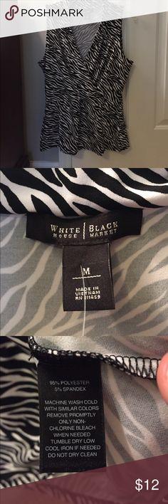 White House Black Market Sleeveless Shirt WHBM sleeveless shirt. EUC White House Black Market Tops