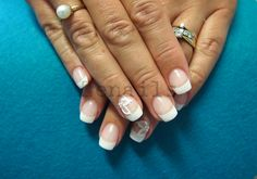 Gel nails with french manicure and LCN Matte Effect Sealant Manicures, Gel Nails, Nail Tips, How To Do Nails, Nail Art, French, Beauty, Nail Salons, Gel Nail