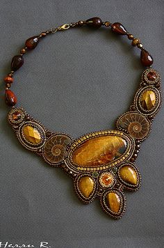 Beautiful jewelry with ammonite fossils | Beads Magic