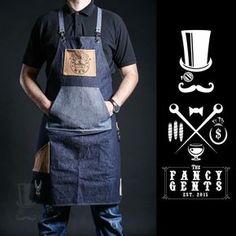 Cafe Apron, Shop Apron, Apron Designs, Shirt Designs, Restaurant Aprons, Restaurant Uniforms, Chef Dress, Hairstylist Apron, Leather Work Gloves