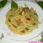 Pasta Fredda con Pesto, Pomodori e Mozzarella