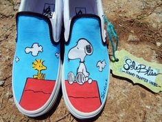Snoopy Woodstock Comic Hand Painted Shoes Canvas/Vans/Toms/Converse- SoleBlissCo