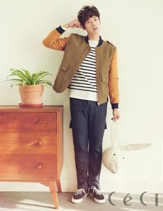 South Korean actor Yoon Hyun Min for CeCi's Nov '14 edition #yoonhyunmin #ceci #discoveryofromance #findingtruelove #korea #southkorea