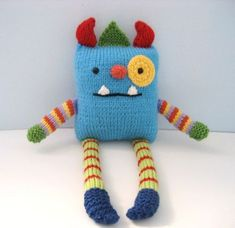 Crochet Amigurumi Design Looking for your next project? You're going to love Knit Monster Amigurumi Pattern by designer Amy Gaines. Loom Knitting, Baby Knitting, Knitting Patterns, Crochet Patterns, Knitting Needles, Amigurumi Patterns, Knitted Dolls, Crochet Dolls, Knitting Projects