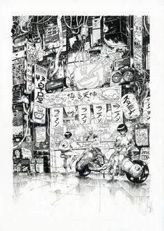 À l'occasion de l'exposition Tribute to Katsuhiro Otomo,42 artistes rendent hommage au maître japonais du manga, célèbre pour son œuvre culteAkira, et