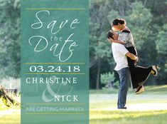 Custom Save The Date Card Wedding Invitation using Wedding Photography by Brovado Weddings