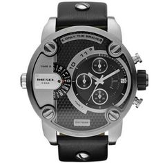 Relógio Diesel SBA Only The Brave Black Dial Men's Watch - DZ7256 #Relogios #Diesel