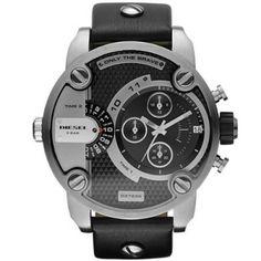 Relógio Diesel SBA Only The Brave Black Dial Men's Watch - DZ7256 #Relogios #Diesel