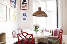 "Kitchen Ideas. I LIKE that ""eat, drink and be merry"" decor. :))"