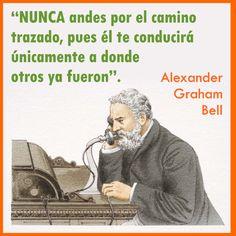 #AlexanderGrahamBell fue un científico, inventor y logopeda. Contribuyó al desarrollo de las telecomunicaciones y a la tecnología de la aviación.