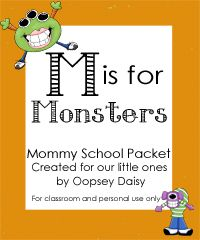 Mommy School Packets - Math, literature, and science activities along with ideas for arts, crafts, and games, all focused on one central theme.   These activities focus on teaching: