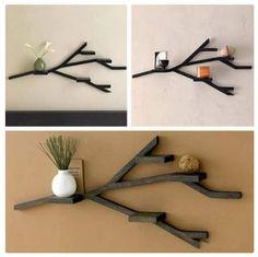 Branch like shelves on: www.geek-living.com/blog