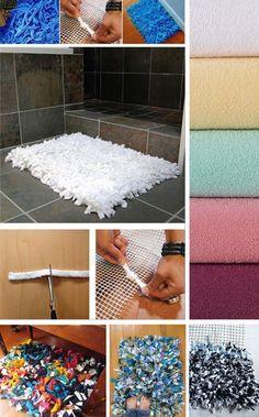 Reciclagem: Como fazer um tapete