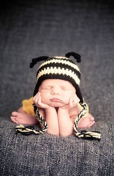 Crochet Bumble Bee Hat  Baby and Toddler by sunshinenserendipity