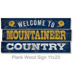 Plank Wood Sign