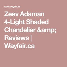 Zeev Adaman 4-Light Shaded Chandelier & Reviews   Wayfair.ca Bar Counter, Counter Stools, Bar Stools, Sputnik Chandelier, Chandelier Shades, Lights Over Dining Table, Contemporary Bar, Light Architecture, Island Lighting
