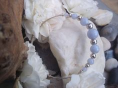 Blue Lace Agate and Sterling Silver bangle by on Etsy Handmade Jewellery, Unique Jewelry, Handmade Gifts, Blue Lace Agate, Bangles, Bracelets, Sterling Silver Jewelry, Dawn, Trending Outfits