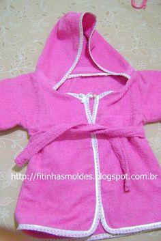 Ateliê Fitinhas  Roupão para bebes Toalhas Com Capuz aee7f44668a