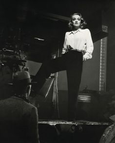 Marlene Dietrich - inspires women to start wearing slacks. In 1930 film…