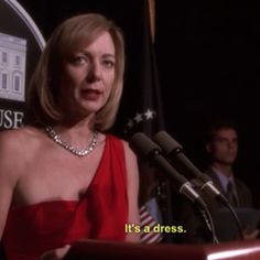 """""""CJ, can you tell us what you're wearing?"""".  """"It's a dress."""""""