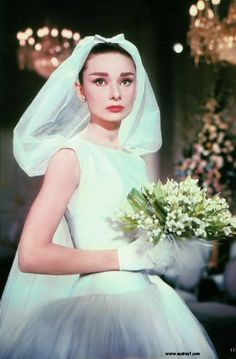 Audrey in Funny Face Wedding Gown