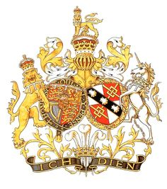 The conjugal Arms of the Prince and Princess of Wales, née Spencer.
