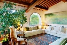 Authentic Tuscan Style Living Room