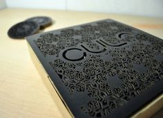 "Student Work ~Sim Designed by Brandon Sim | Country: Singpore  ""As a part of my packaging class at Nanyang Polytechnic School of Design in Singapore we were asked to create a new cafe brand/identity and to design the packaging. The design was inspired by victorian patterns and laser cutting was used in making the coaster and the P.O.P. box."