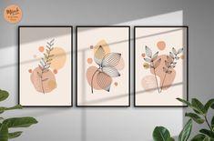 Botanical Wall Art, Botanical Prints, Boho Dekor, Kunst Poster, Wall Art Sets, 3 Piece Wall Art, Abstract Wall Art, Printable Wall Art, Diy Art