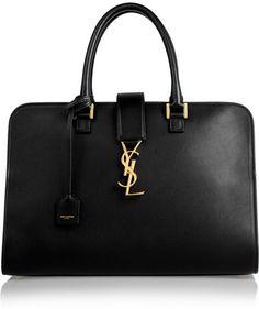 Saint Laurent Monogramme Cabas leather tote