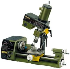 The Mill/Drill Head PF 230 converts your Lathe PD into a machining center. It comes including the necessary mounting bracket and bolts to attach it to the Lathe PD Three collets are included. Technical - speeds 280 - 550 - 870 - - and NO 34 104 Se Metal Mill, Cnc Lathe Machine, Machinist Tools, Diy Cnc, Diy Lathe, Tools Hardware, Metal Working Tools, Garage Tools, Tools And Equipment