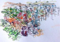 farmers_market_suhita_watercolour Bodrum Market