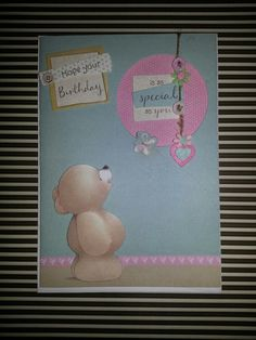 Forever friends birthday card made by me :-) https://m.facebook.com/stephanieshandmadecard see my page for more #handmadecards #forverfriends #birthday #cardsforsale #craft