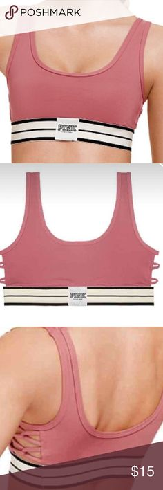 """Victoria secret pink ultimate strappy sports bra VS PINK Ultimate Strappy Side Sports Bra Brand New in bag.  Size xs. NO TRADES. Take $10 off using code """"Yyd"""" on the app fashionstash. The code is case sensitive. Comment if you have questions. PINK Victoria's Secret Intimates & Sleepwear Bras"""