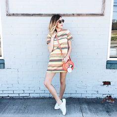 Kick off Saturday with a stripes and sneaker combo ala @howdoyouwearthat's weekend wear | Shop her look with www.LIKEtoKNOW.it | www.liketk.it/2k6dy #liketkit by liketoknow.it