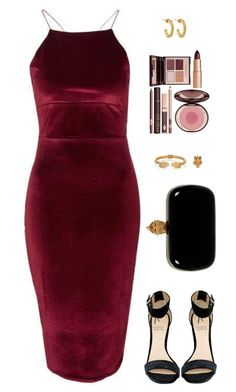 """""""Sin título #3896"""" by mdmsb on Polyvore featuring moda, Topshop, Rihanna For River Island, Alexander McQueen, Charlotte Tilbury y Jennifer Fisher"""