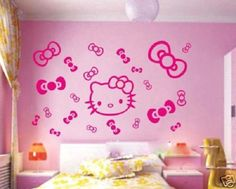 Hello Kitty Stickers For Walls: Hello Kitty Stickers For Walls