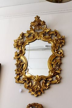 Gorgeous Italian 1900's Gilt Mirror | Available at Source.