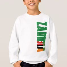 Shop Zambia Flag Sweatshirt created by worldcupflag. Zambia Flag, Graphic Sweatshirt, T Shirt, Hoodies, Sweatshirts, Flags, Kids Outfits, Sleeves, Clothes
