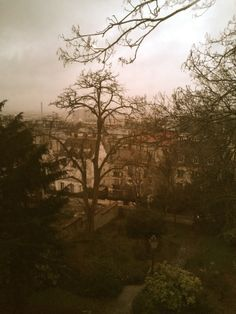 View from Renoir's atelier / Musee Montmarte. Paris - February 2014