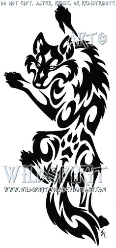 Wolf Tattoos Meaning Wolf Tattoos, Tribal Tattoos, Tribal Drawings, Tribal Wolf Tattoo, Tattoo Drawings, Body Art Tattoos, Hand Tattoos, Lobo Tribal, Tribal Art