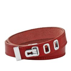 FOSSIL® New Arrivals Jewelry:Women Leather Double Wrap – Dark Red JF00237