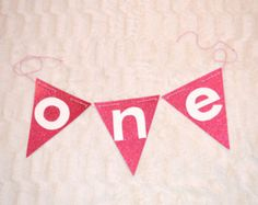 HighChair Triangle ONE Banner, Triangle Banner, Glitter Banner, Highchair Banner, One Banner, Customized Banner by MadJax Design and Print