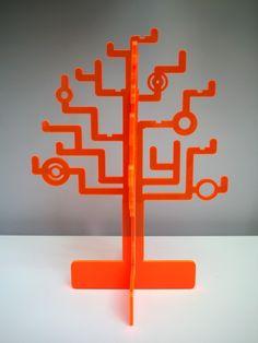Circuitree Jewelry Tree (custom colour) - acrylic jewellery storage rack