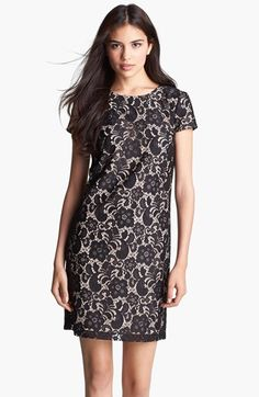 Free shipping and returns on Ivy & Blu Lace Shift Dress at Nordstrom.com. A swirling lace overlay sweetens the classic silhouette of a cap-sleeve shift rendered in an emerald spring hue.