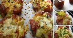 Pečené zemiaky s cesnakom a syrom - Receptik.sk
