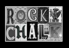 Rock Chalk Jayhawk! Go KU!  check out my other photos at  www.facebook.com/a2zphoto Rock Chalk Letter art print by A2Z Photography #KU #Jayhawks #Rockchalk #RCJH